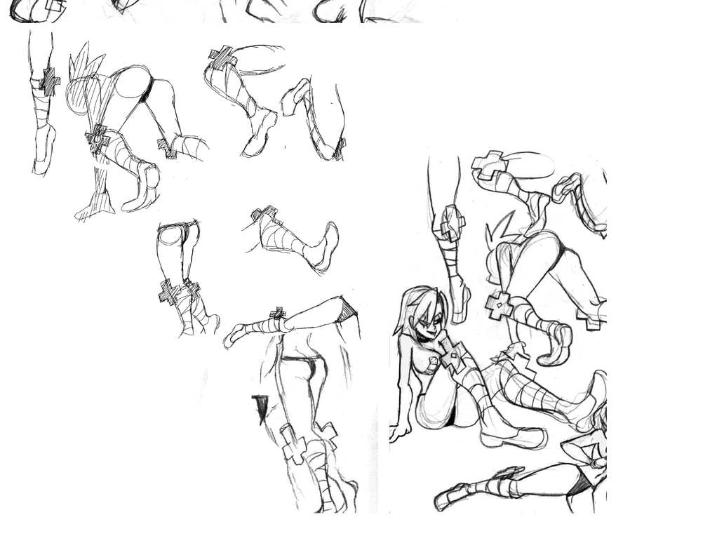 Valentine practice sketches by PingPongPonies