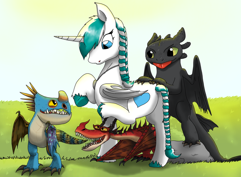 Nyota and baby dragons by Creeperchild on DeviantArt