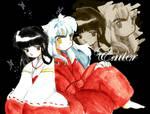 ..Kikyou+Inuyasha.. by EdDieH