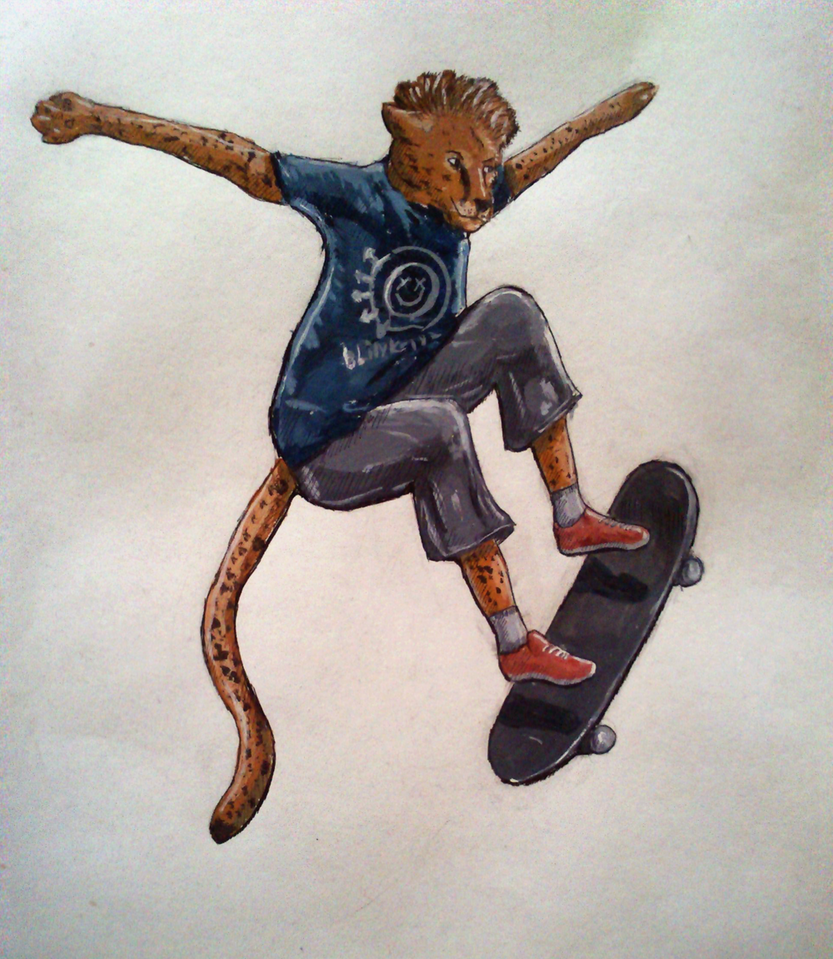 Cheetah skater by Speck--Of--Dust
