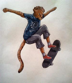 Cheetah skater