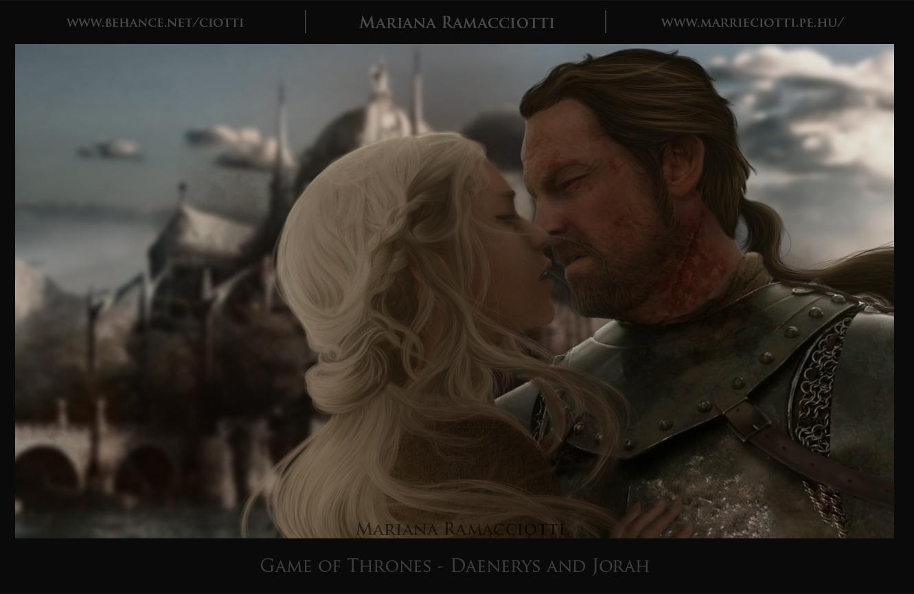 Daenerys and Jorah - Game of Thrones by Ciotti on DeviantArt