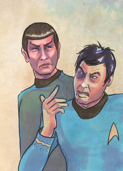 Spock and McCoy