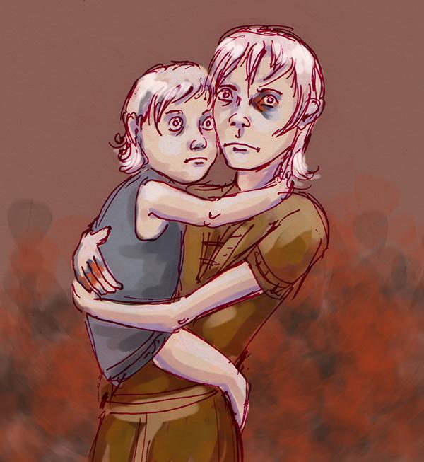 Viserys and Daenerys by kethryn