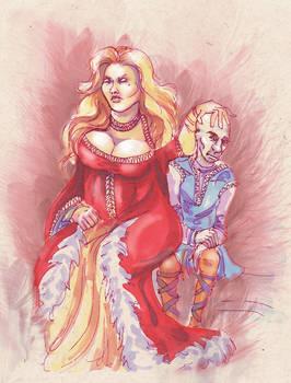 Genna and her husband.