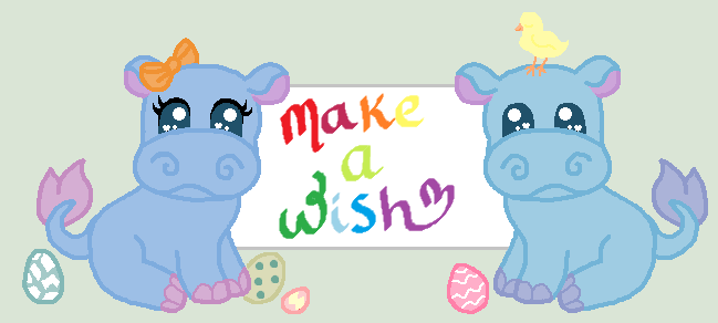 Easter Hippo's making wishes come true! by TheWritingHippo