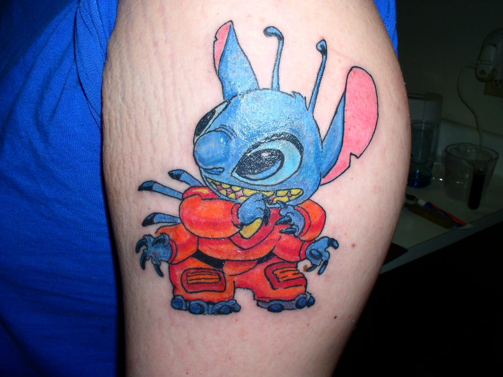 my stitch tattoo by sonic626 on deviantart. Black Bedroom Furniture Sets. Home Design Ideas