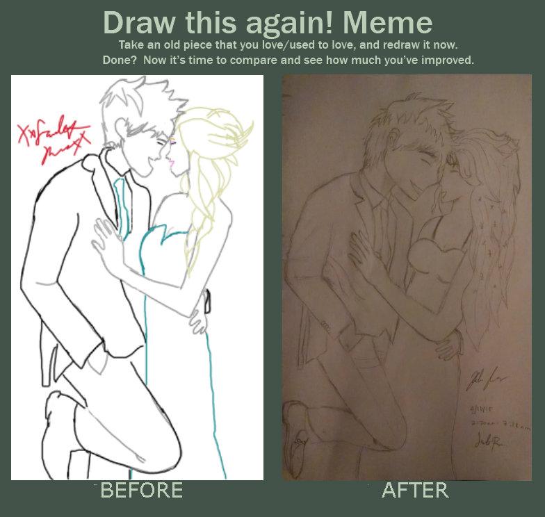 Jelsa!Draw this again (First and probably my last) by XxScarletxRosexX