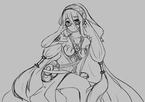 Azura Fire Emblem Fates Sketch