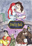 Ariel and Belle: Cover by Goddess-Aribelle