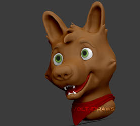3D Dog [WIP] by Volt-Draws