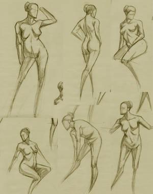 Figure studies. by RoscoeFink