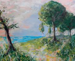 impressionism landscape by HeartySpades