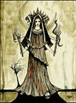 Hekate . The Goddess with three faces .