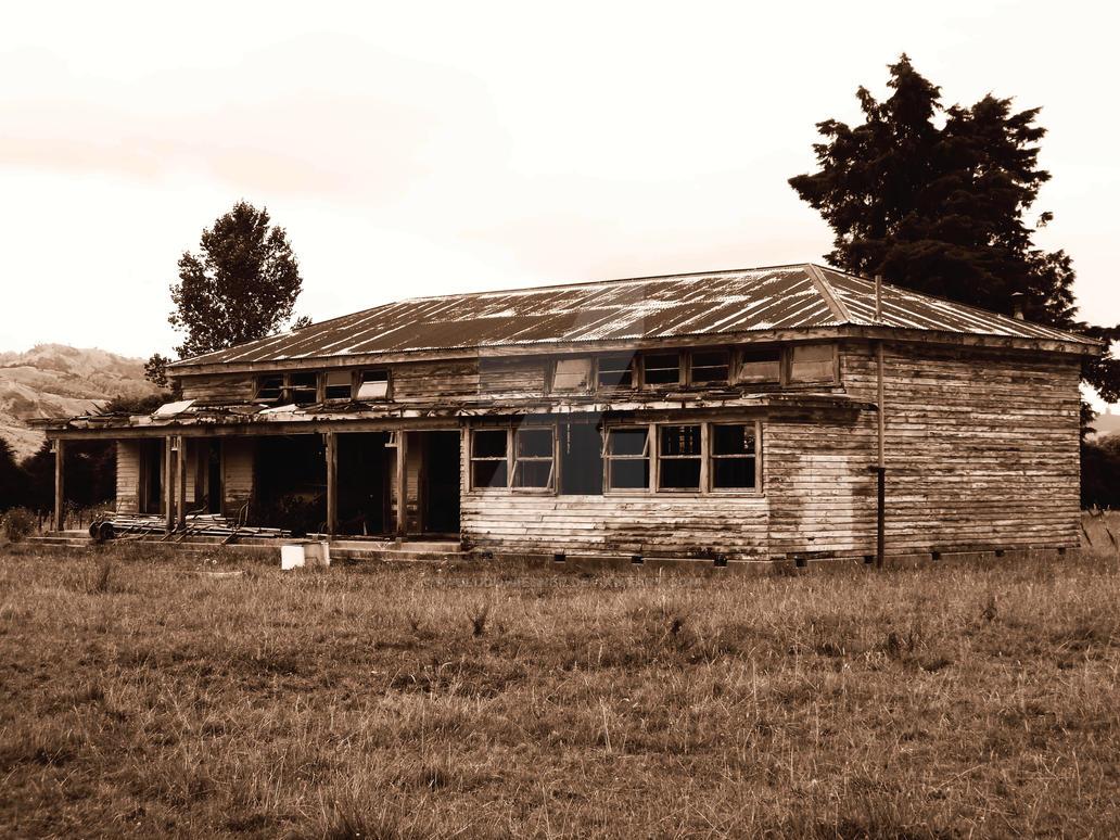 Old School House Sepia by pauludowiesner