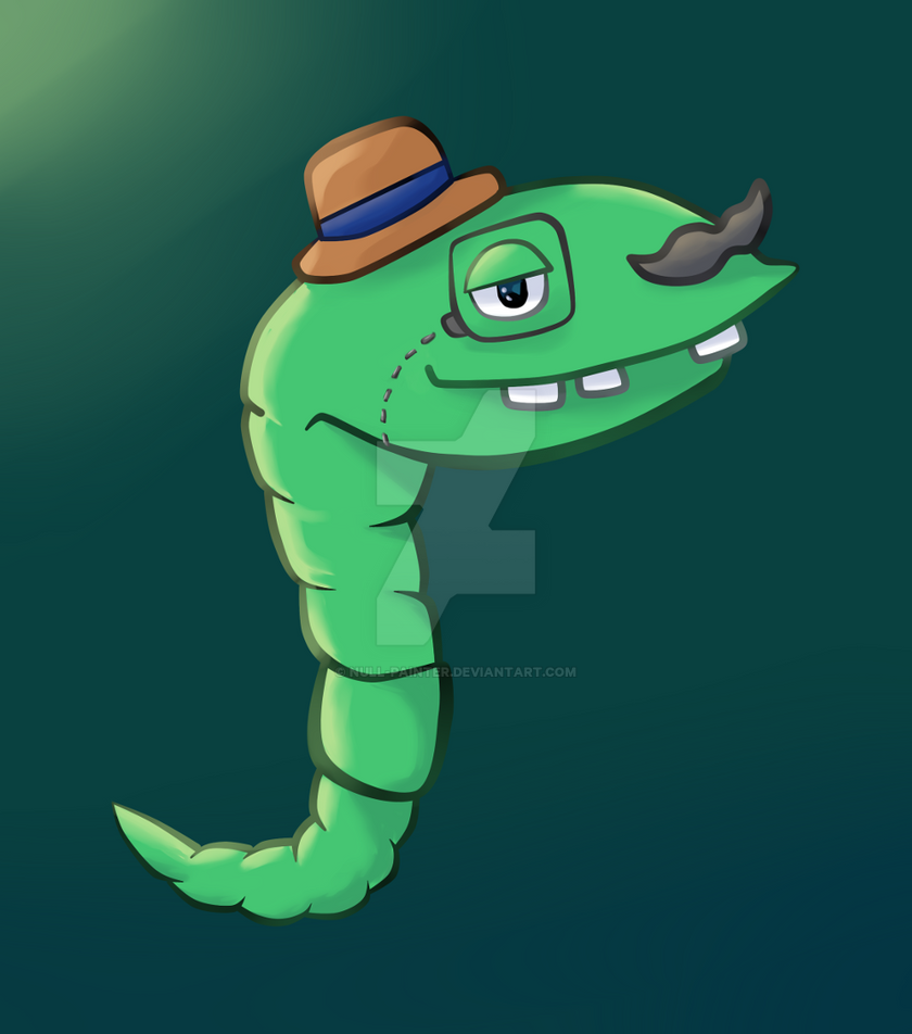 Worm like a sir by null-painter