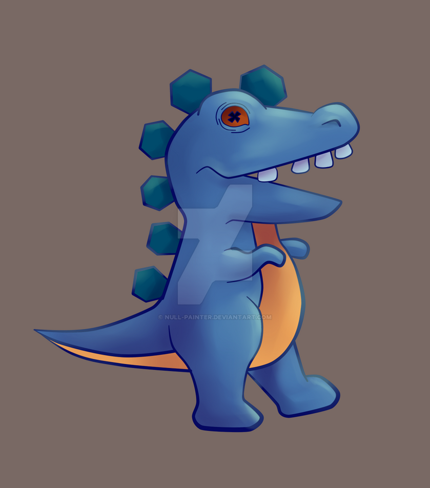 Freaky blue dino by null-painter