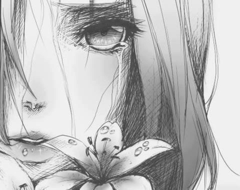 Sad-Anime-Girl-Crying-Drawing-3 -This isn' my pic! by ...