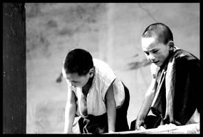 B+W Ladakh Children 38