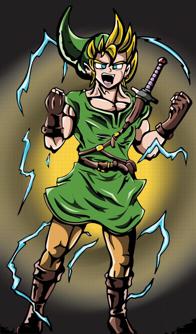 Super Saiyan Link by Mazdi