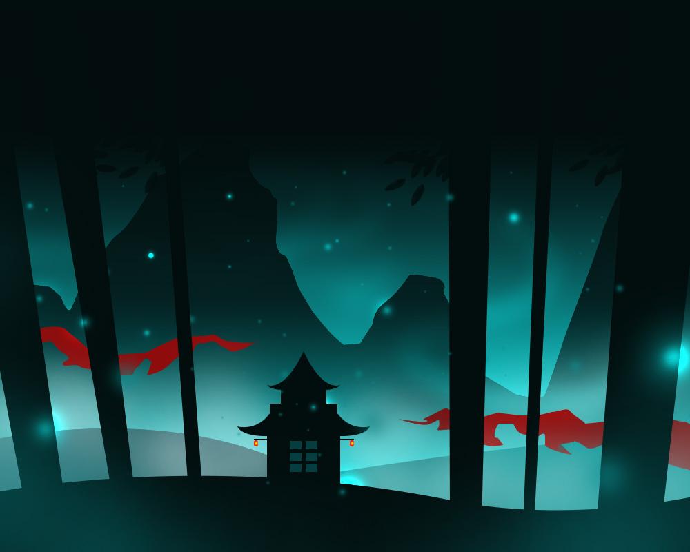 Glowy Forest by Mazdi