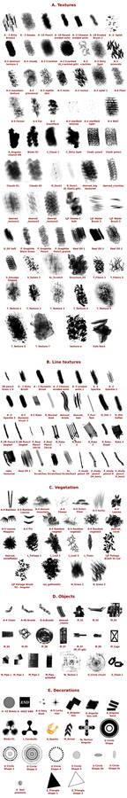 Krita Predefined Brushes - ref sheet