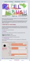 Krita Tutorial: Brushes Part B, Pixel Brushes 1/2 by White-Heron