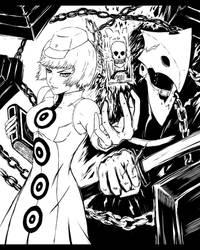 Elizabeth and Thanatos - Persona by Artsh3n