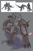 Godzilla the series redesign 17 by Superzillaking