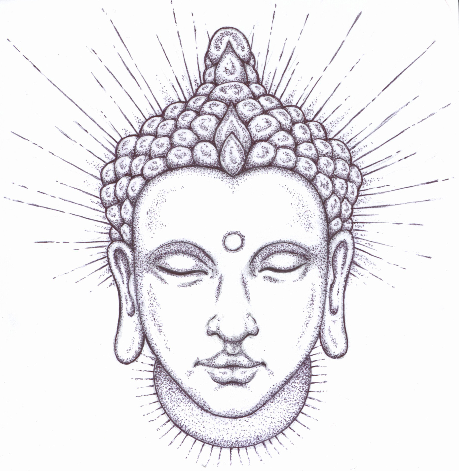 Buddha Face Line Drawing : Best images collections hd for gadget windows mac android