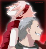 Hidan and Sakura fanart by Alena-sempai