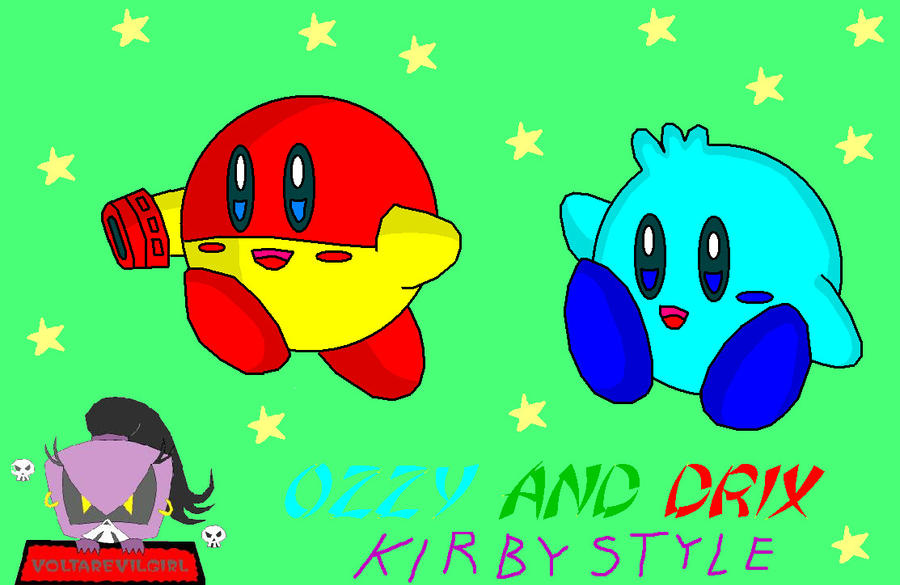 Ozzy And Drix Characters Ozzy y Drix estilo Kirby by