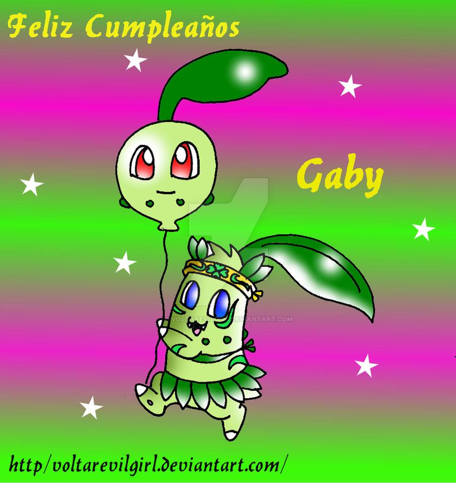 Feliz Cumple Gaby :3 By VOLTAREVILGIRL On DeviantArt