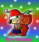 Parappa and PJ christmas hug