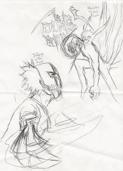 Mask Ichigo VS. 4 tail Naruto