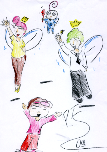 how to draw cosmo timmy turner and wanda