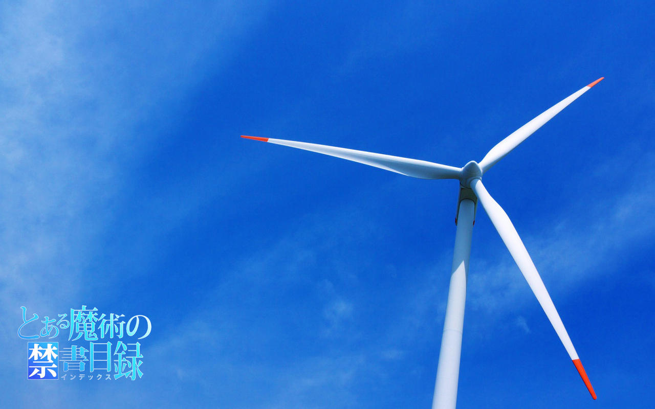 Wind Turbine A Certain Magical Index Wallpaper By Hollowchelsea