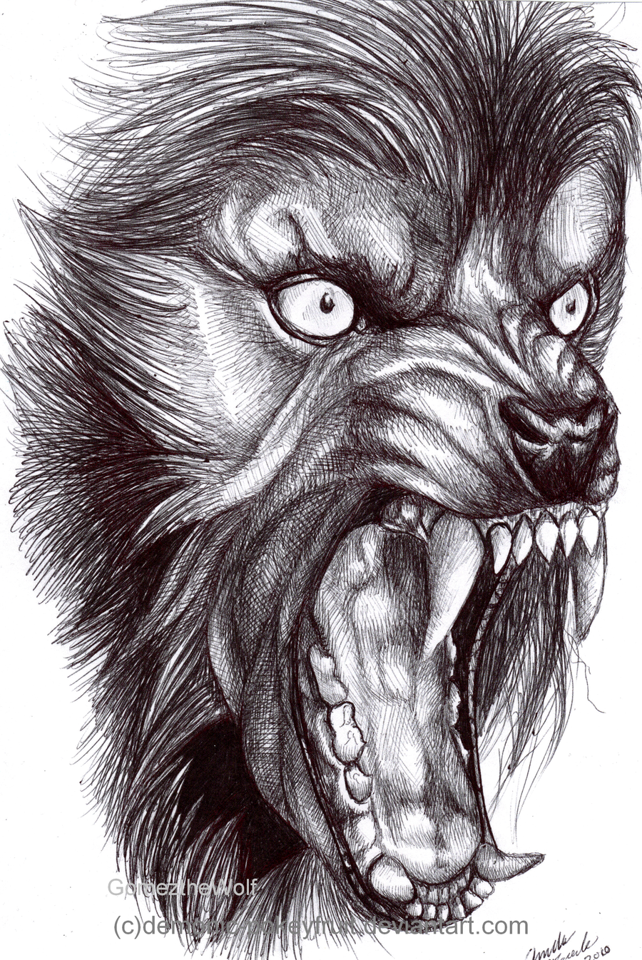 Scary werewolf drawings - photo#19
