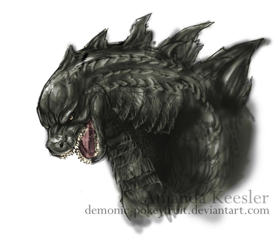 Godzilla 2014 Sketch by Demonic-PokeyfruitGodzilla 2014 Sketch