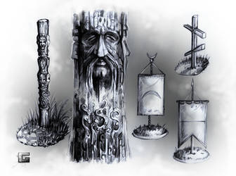 MHM - Totems, Flags and Cross