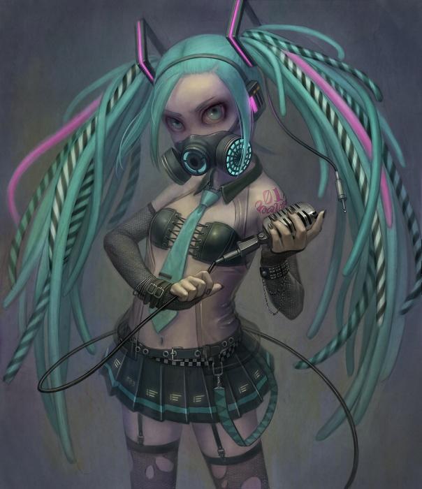 Cyber Goth Miku ? by Daiyou-Uonome