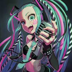 Cyber Goth Miku