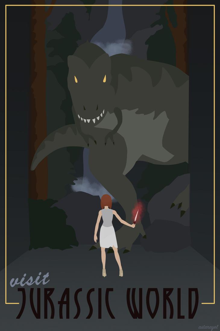 Vintage Jurassic World by astarayel