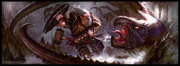 Dwarf vs Hook by guterrez