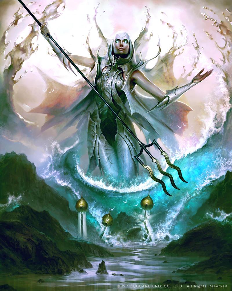 Mevius Final Fantasy: Poseidon by guterrez