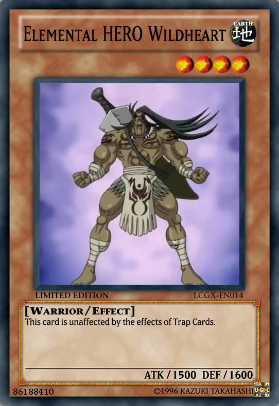 Elemental Hero Wildheart Elemental HERO Wildheart by