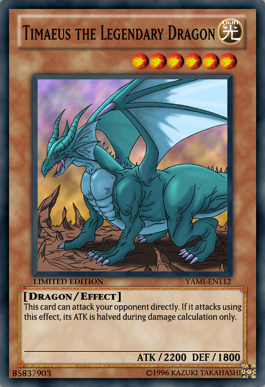 the gallery for gt yugioh legendary dragon timaeus