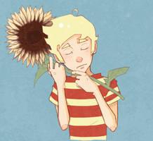 she was like a sunflower by DapperPepper