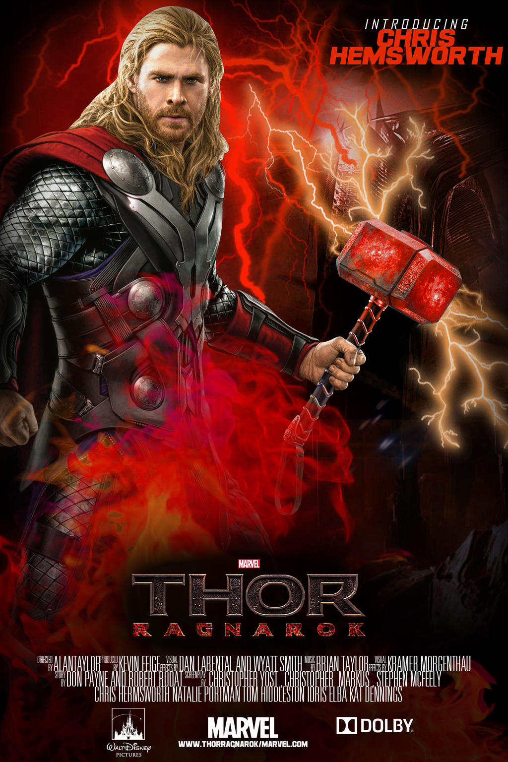 Thor Ragnarok 2017 Movie Poster By Jfourpvfx On Deviantart