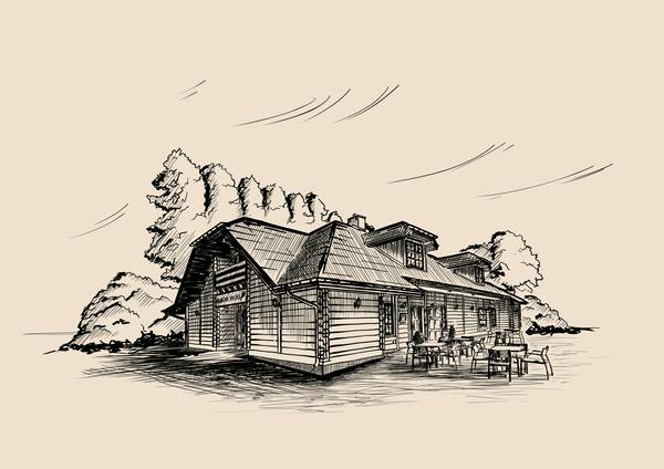 Spalska Inn in  Inkscape